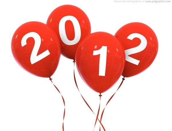 New Year 2012 celebration PSD