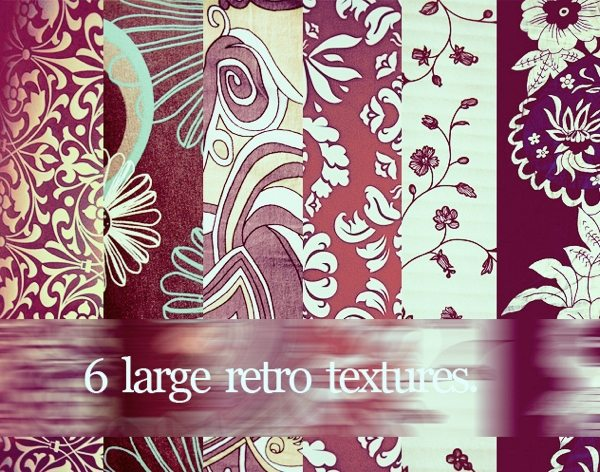 6 Large Retro Textures