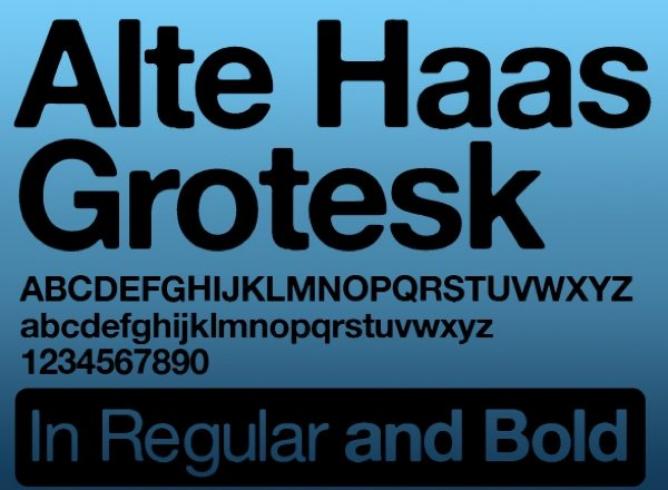 Alte Haas Grotesk free font