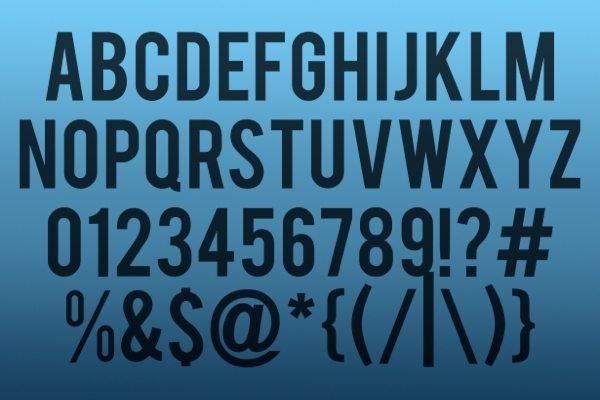 Bebas free font