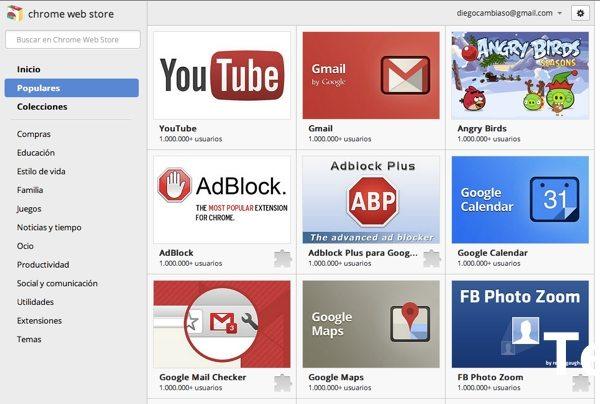 Chrome Web Store - tienda de aplicaciones