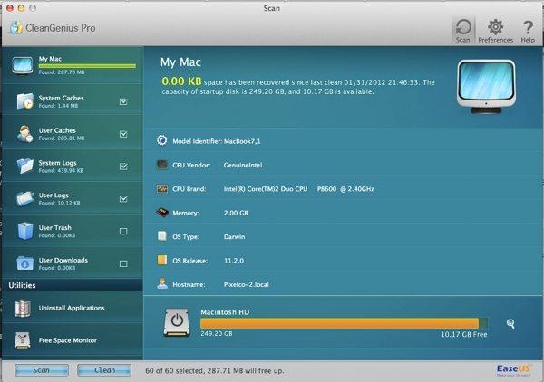 CleanGenius Pro Interfaz