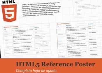 Hoja de ayuda rápida de HTML5