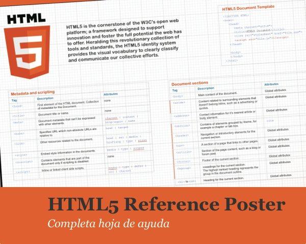 html5 reference poster completa hoja de ayuda para programadores web pixelco tech blog. Black Bedroom Furniture Sets. Home Design Ideas