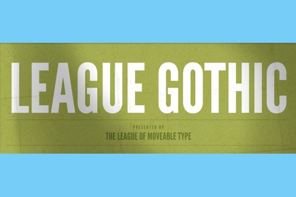 League Gothic free font