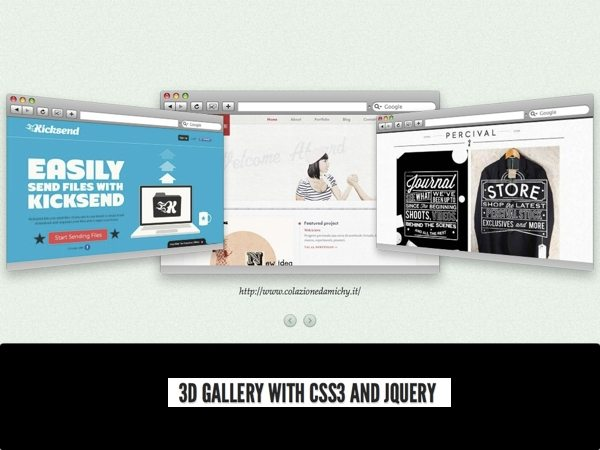 Galería de imágenes 3D con jQuery y CSS3