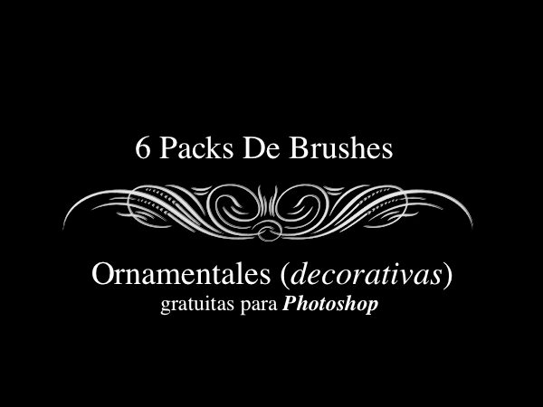 Brushes-ornamentales-para-Photoshop 6 Packs de Brushes ornamentales gratuitas para Photoshop (y GIMP)