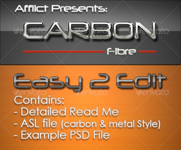 Carbonfibre Photoshop Style