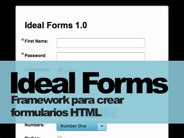 Ideal Forms framework para crear formularios HTML