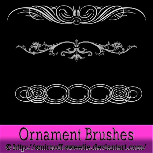 Ornament-Brsuhes-Photoshop-2 6 Packs de Brushes ornamentales gratuitas para Photoshop (y GIMP)