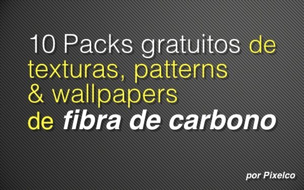 Packs de fibra de carbono gratuitos para Photoshop