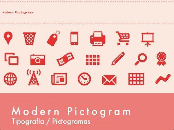 Modern Pictogram - Tipografía gratuita de pictogramas
