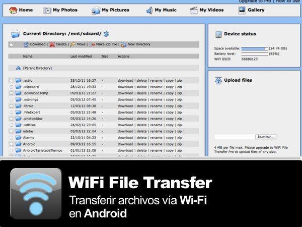 WiFi File Transfer - Aplicacion grauita para Android