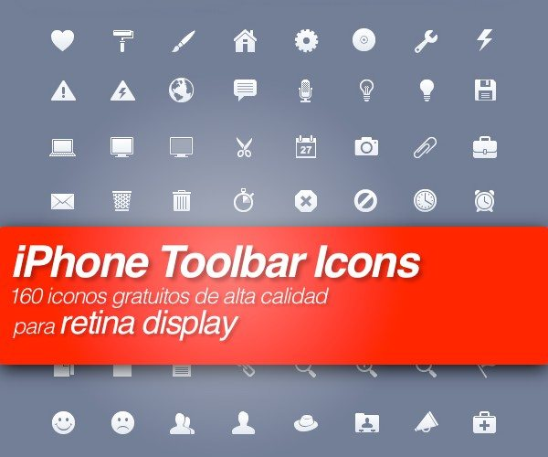 iPhone Toolbar Icons - iconos de alta claidad para retina display