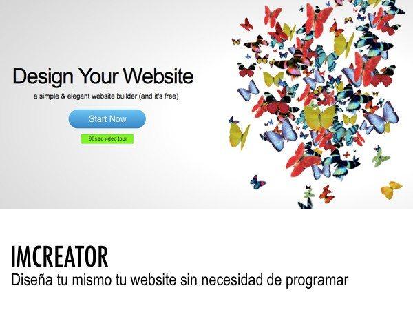 Imcreator herraienta web para crear websites