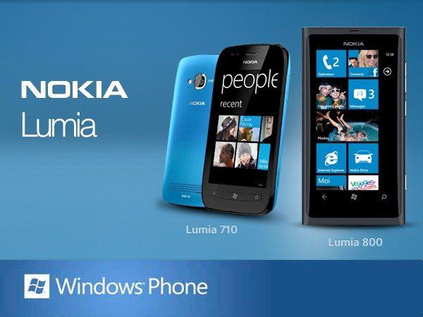 Nokia Lumia 800 y Nokia Lumia 710