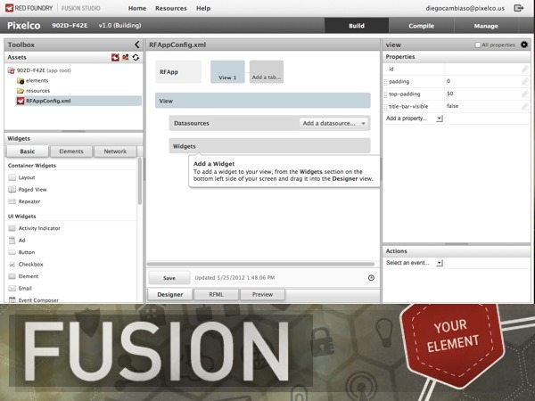 Fusion Studio - entorno de desarrollo online de aplicaciones para iOS
