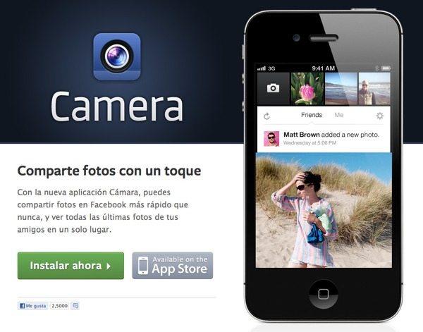 Facebook Camera - Una cámara de fotos al estilo Instagram