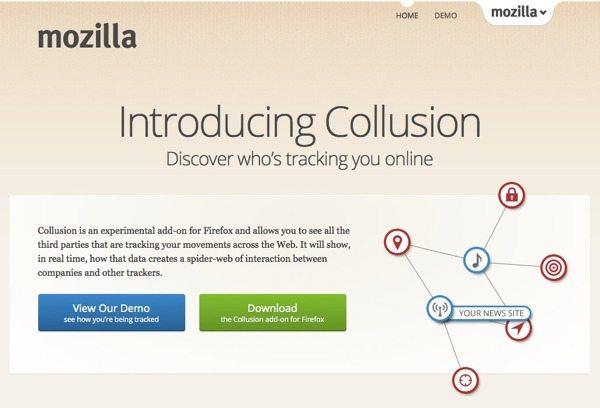 Mozilla Collusion - Quién te está rastreando