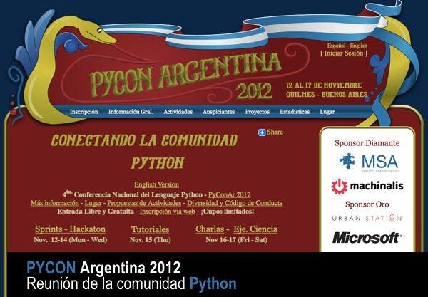 Pycon Argentina 2012 - congreso de desarrolladores Python en Argentina