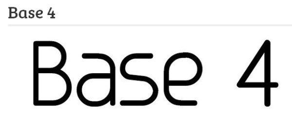base4 Conoce una excelente recopilación con las mejores fuentes para diseñadores