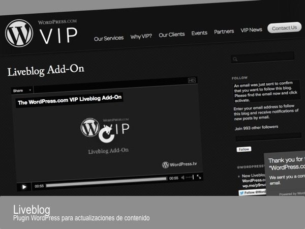 Liveblog - plugin WordPress