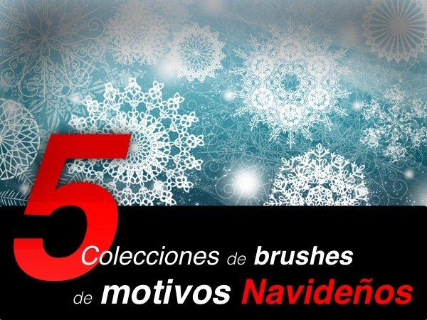 5-colecciones-de-brushes-para-photoshop-para-navidad 5 Colecciones de brushes para Photoshop para diseños navideños