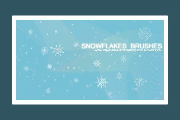 Snowflakes-Brushes-Photoshop-Christmas 5 Colecciones de brushes para Photoshop para diseños navideños