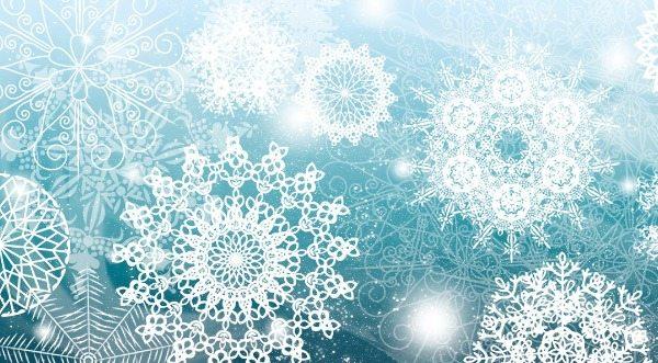 Snowflakes-brushes-photoshop 5 Colecciones de brushes para Photoshop para diseños navideños