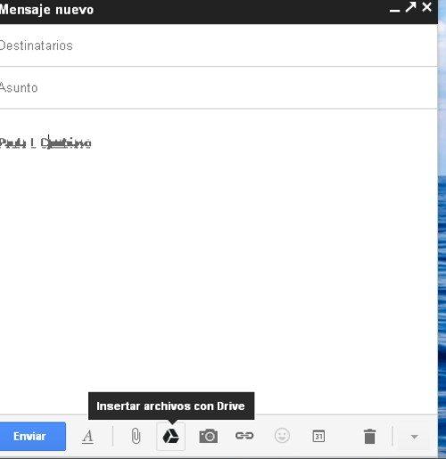 Adjuntar archivos con Google Drive