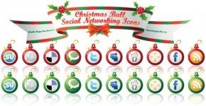 Christmas Ball Social Networking Icons