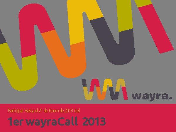 Inscripción al 1er Wayra Call del 2013