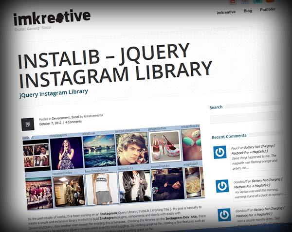 InstaLib - plugin jQuery