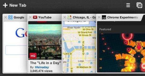 Google Chrome para iPad e iPhone
