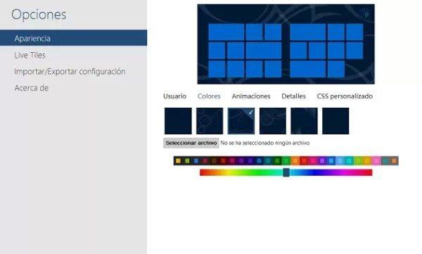 """metrotabopciones Reemplaza el estilo actual de la página """"Nueva Pestaña"""" de Chrome con el de Modern UI de Windows 8"""