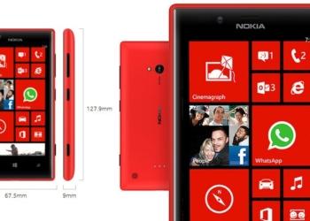 Nokia Lumia 720 - Especificaciones