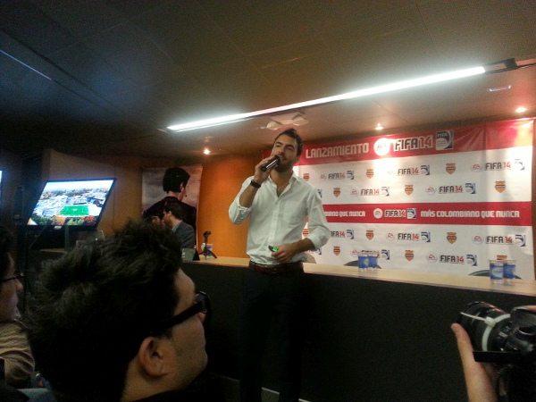 En la rueda de prensa de FIFA 14