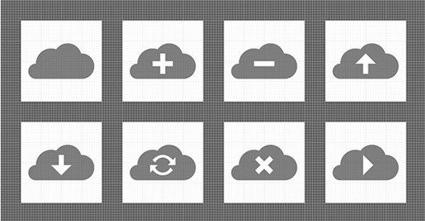 simplevectorcloud Te mostramos una hermosa colección llamada Simple Vector Cloud Icons