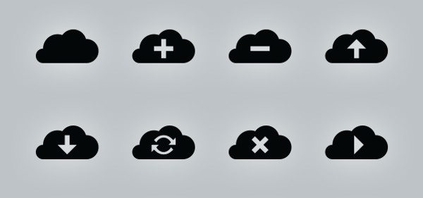 Simple Vector Cloud Icons