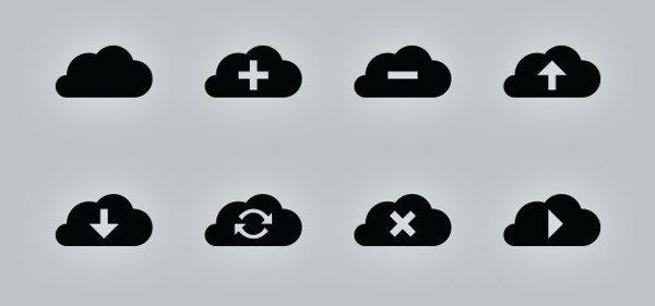simplevectorcloudicons Te mostramos una hermosa colección llamada Simple Vector Cloud Icons