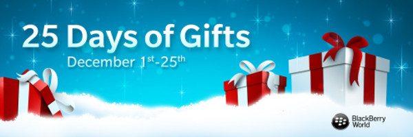 25 días de regalos en la BlackBerry World