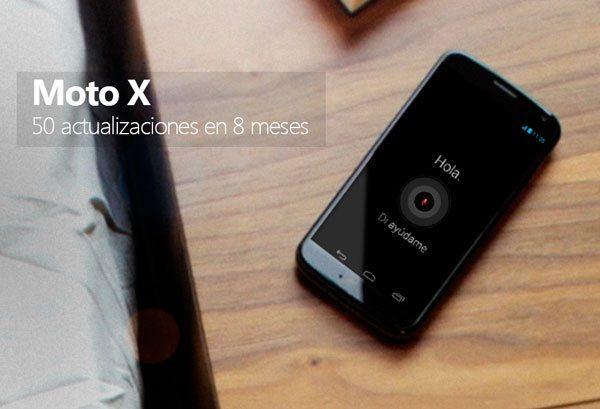 Moto X - 50 actualizaciones en 8 meses