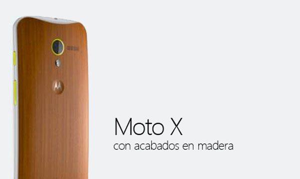 Moto X con acado de madera