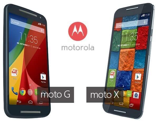 Motorla: Moto G & Moto-X
