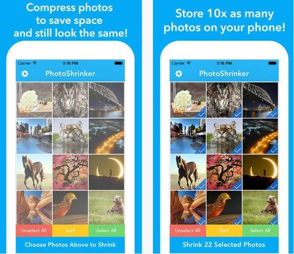 PhotoShrinker para iPhone