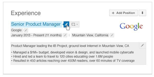 linkedin LinkedIn simplifica la edición de tu perfil trayendo una serie de cambios