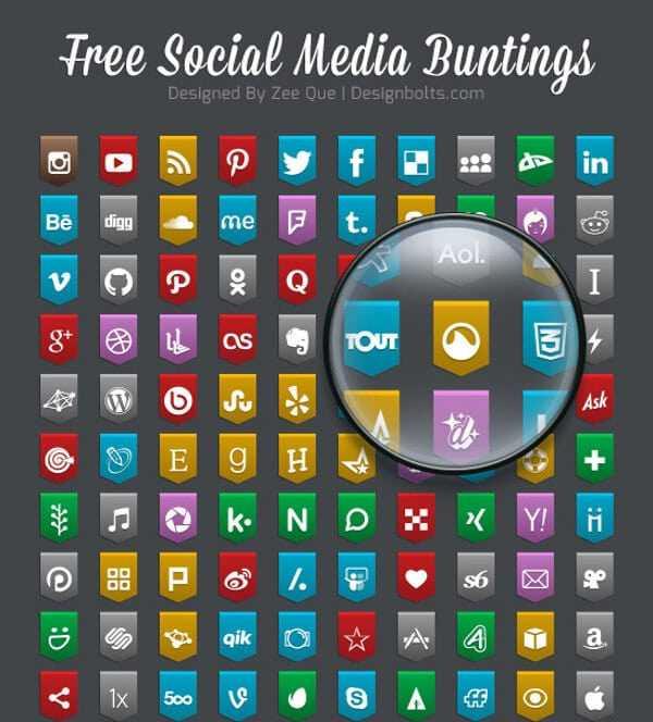 130 Free Social Media Bunting 2015