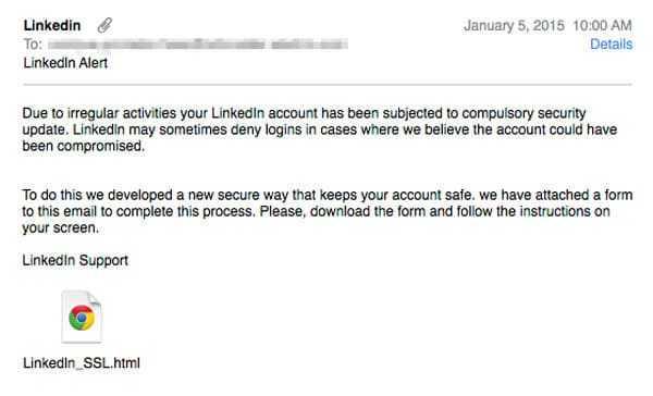 linkedin-amenaza Usuarios de LinkedIn afectados por falsa actualización de seguridad