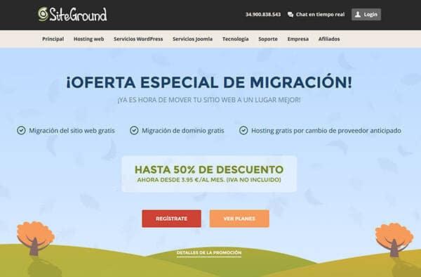 Siteground Hosting - Migración