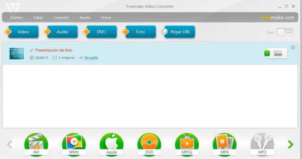 Freemake - editor y convertidor de videos